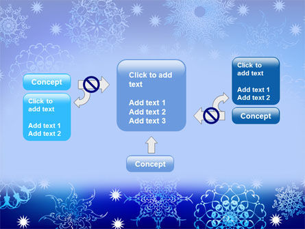 Snowflake Frame PowerPoint Template Slide 13