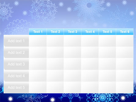 Snowflake Frame PowerPoint Template Slide 15