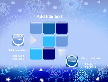 Snowflake Frame PowerPoint Template Slide 16