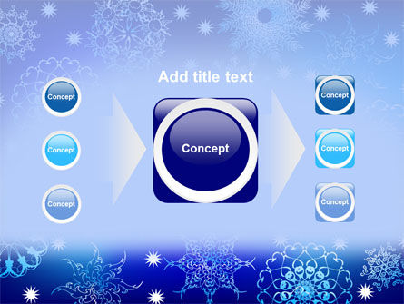 Snowflake Frame PowerPoint Template Slide 17