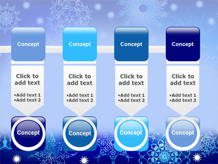 Snowflake Frame PowerPoint Template Slide 18