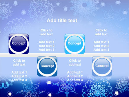 Snowflake Frame PowerPoint Template Slide 19