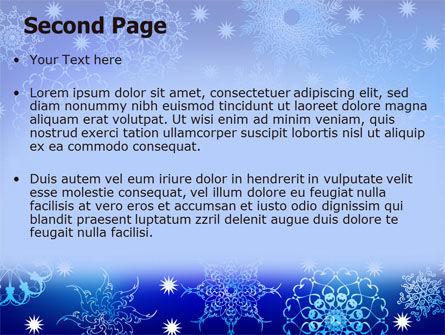 Snowflake Frame PowerPoint Template, Slide 2, 07154, Holiday/Special Occasion — PoweredTemplate.com