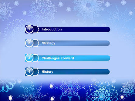 Snowflake Frame PowerPoint Template, Slide 3, 07154, Holiday/Special Occasion — PoweredTemplate.com
