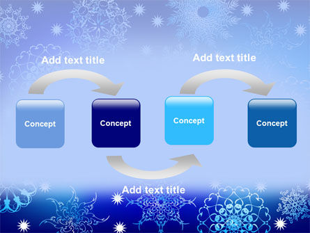 Snowflake Frame PowerPoint Template, Slide 4, 07154, Holiday/Special Occasion — PoweredTemplate.com