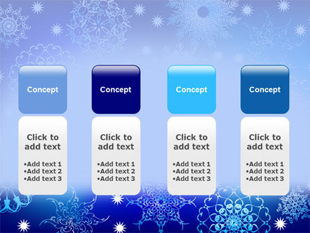 Snowflake Frame PowerPoint Template Slide 5