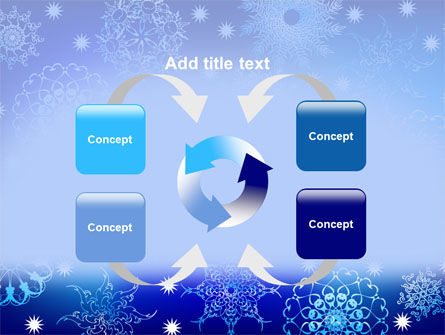 Snowflake Frame PowerPoint Template Slide 6