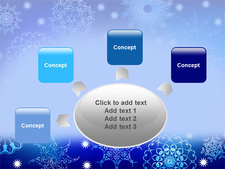 Snowflake Frame PowerPoint Template Slide 7