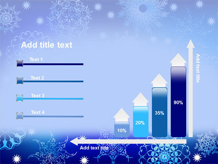 Snowflake Frame PowerPoint Template Slide 8