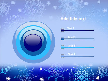 Snowflake Frame PowerPoint Template Slide 9