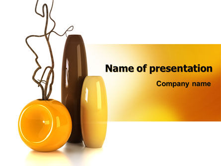 Vases PowerPoint Template, 07155, Careers/Industry — PoweredTemplate.com