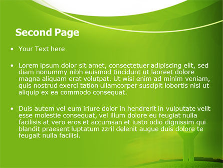 Green Man PowerPoint Template, Slide 2, 07156, Nature & Environment — PoweredTemplate.com