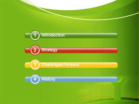 Green Man PowerPoint Template, Slide 3, 07156, Nature & Environment — PoweredTemplate.com