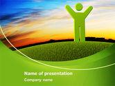 Nature & Environment: Grüner mann PowerPoint Vorlage #07156