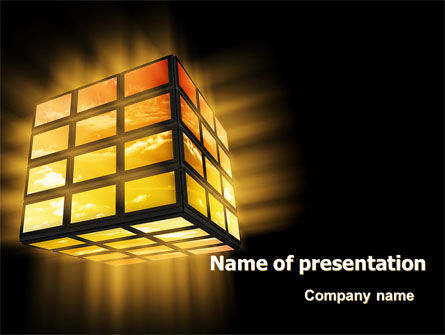 Light Cube PowerPoint Template, 07157, Business — PoweredTemplate.com