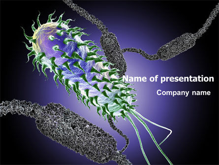 Bacteria PowerPoint Template, 07158, Medical — PoweredTemplate.com
