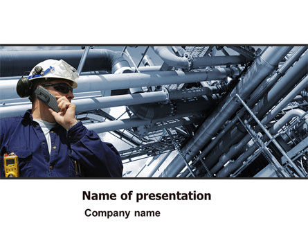 Engineering Industry PowerPoint Template, 07159, Utilities/Industrial — PoweredTemplate.com