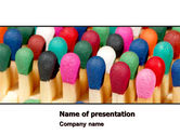 Business Concepts: Diverse Matches PowerPoint Template #07161