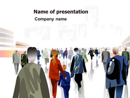 Crowded Place PowerPoint Template