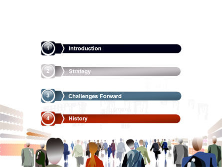 Crowded Place PowerPoint Template Slide 3