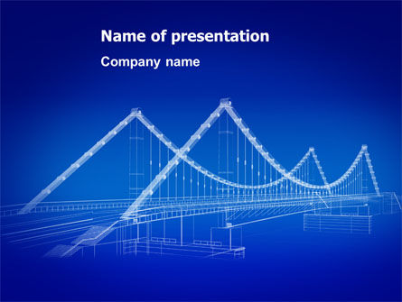 Bridge PowerPoint Template, 07163, Construction — PoweredTemplate.com