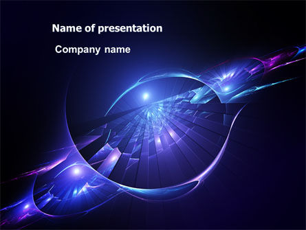 Abstract/Textures: Abstract Cosmic Theme PowerPoint Template #07164