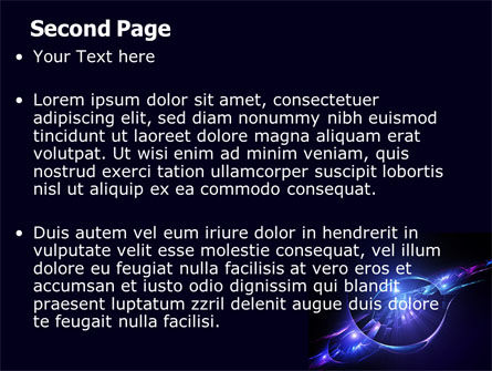 Abstract Cosmic Theme PowerPoint Template Slide 2