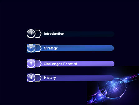 Abstract Cosmic Theme PowerPoint Template Slide 3