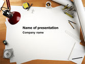 Careers/Industry: Drawing Board PowerPoint Template #07165
