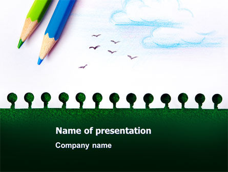 Education & Training: Drawing Notepad PowerPoint Template #07169