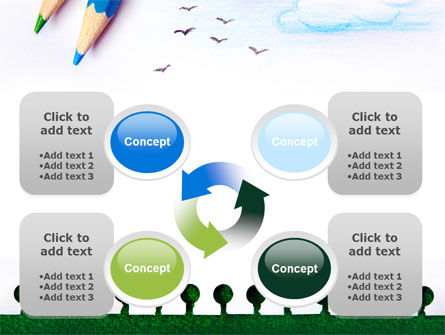 Drawing Notepad PowerPoint Template Slide 9