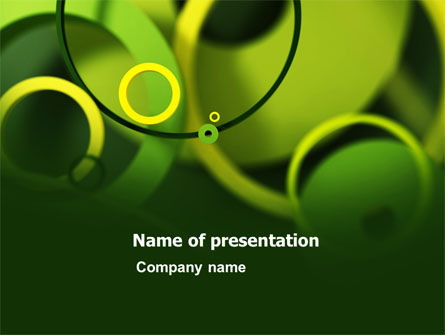 Abstract Green Circles PowerPoint Template
