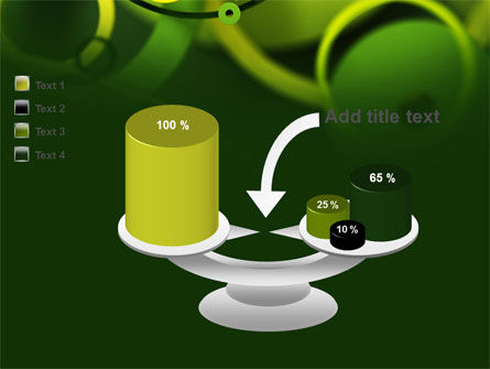 Abstract Green Circles PowerPoint Template Slide 10