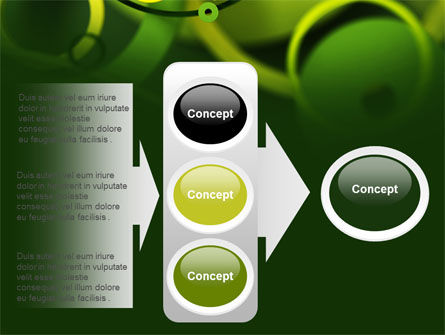 Abstract Green Circles PowerPoint Template Slide 11