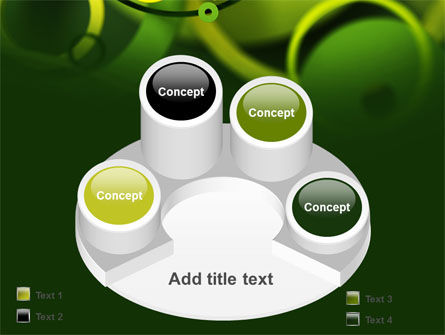 Abstract Green Circles PowerPoint Template Slide 12