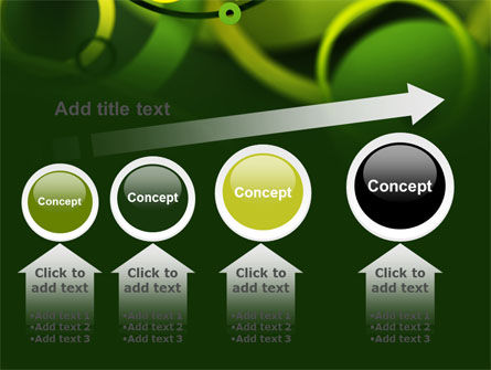 Abstract Green Circles PowerPoint Template Slide 13