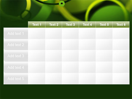 Abstract Green Circles PowerPoint Template Slide 15