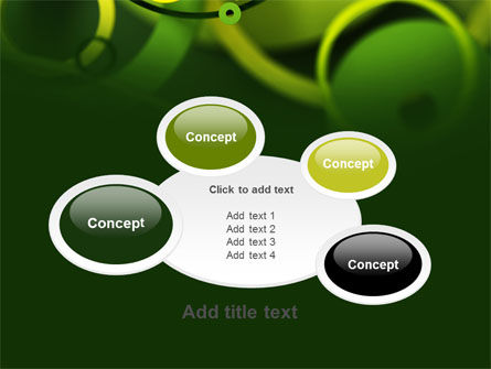 Abstract Green Circles PowerPoint Template Slide 16