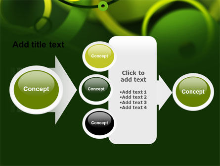 Abstract Green Circles PowerPoint Template Slide 17