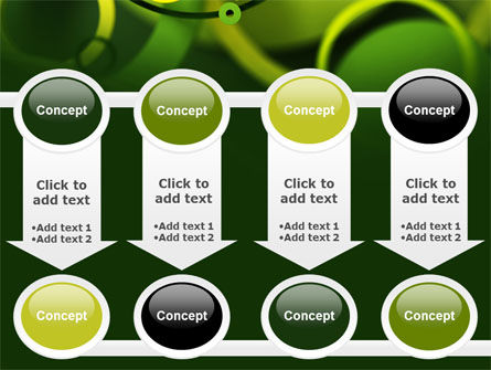 Abstract Green Circles PowerPoint Template Slide 18