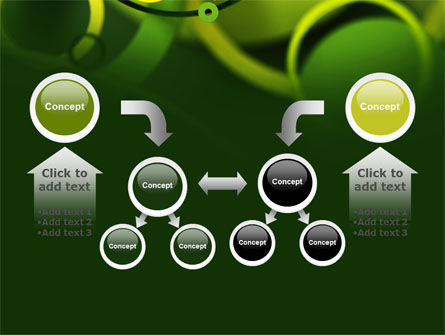 Abstract Green Circles PowerPoint Template Slide 19