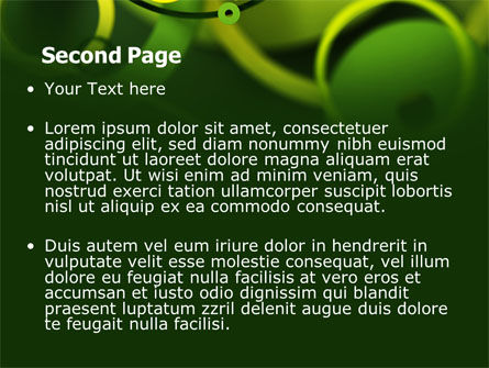 Abstract Green Circles PowerPoint Template Slide 2