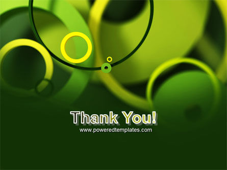 Abstract Green Circles PowerPoint Template Slide 20
