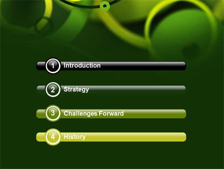 Abstract Green Circles PowerPoint Template Slide 3