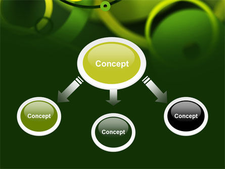 Abstract Green Circles PowerPoint Template Slide 4