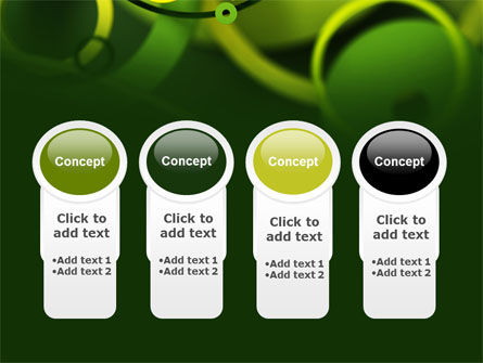 Abstract Green Circles PowerPoint Template Slide 5