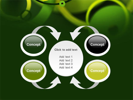 Abstract Green Circles PowerPoint Template Slide 6
