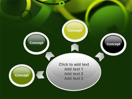 Abstract Green Circles PowerPoint Template Slide 7