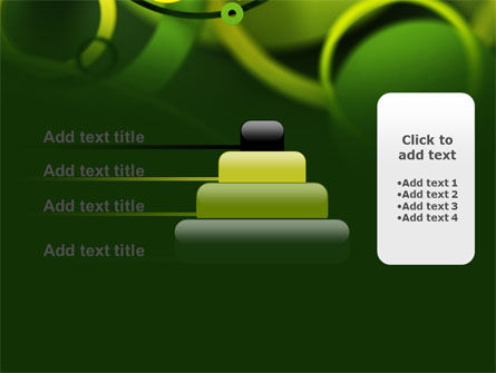 Abstract Green Circles PowerPoint Template Slide 8