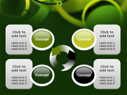 Abstract Green Circles PowerPoint Template Slide 9